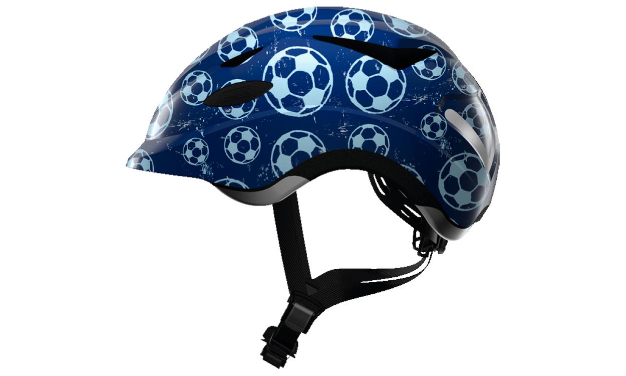 Шлем детский ABUS ANUKY Blue Soccer