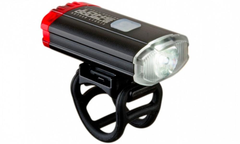 Фонарь передний Author A-DoubleShot 250/12 люм. USB с задним красным светом