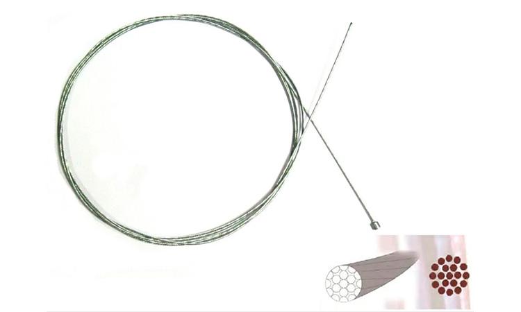 Нержавеющий полированный тросик переключения 2100 мм Sheng-An,  1шт.