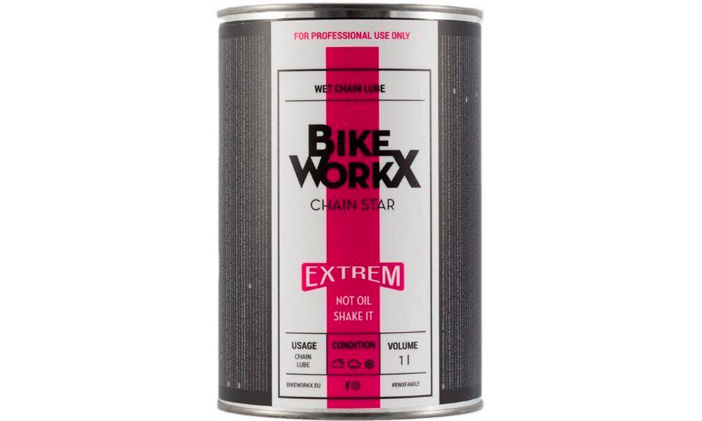 Смазка для цепи BikeWorkX Chain Star Extreme банка 1L
