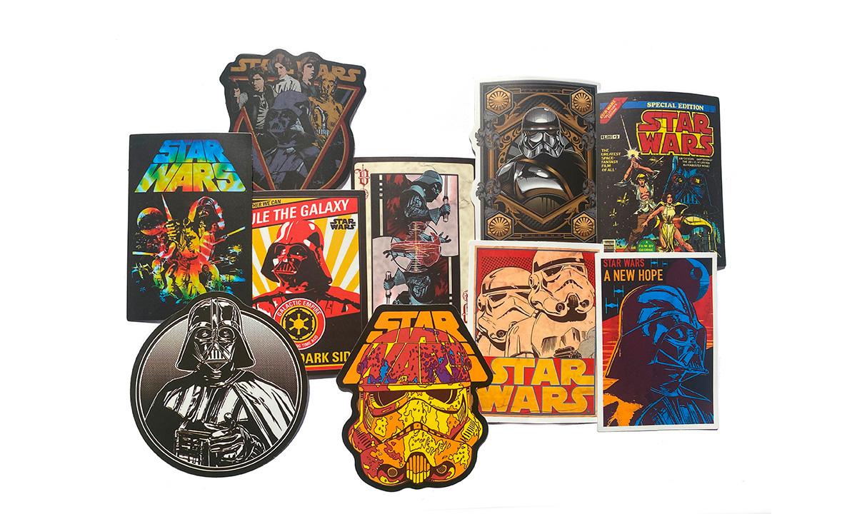 Наклейки на BMX Star Wars rule the galaxy