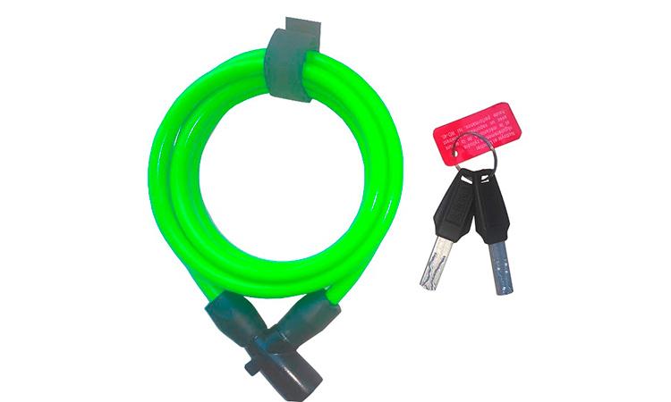 Замок ONGUARD Lightweight Key Coil Cable Lock, трос 150 см х 8 мм