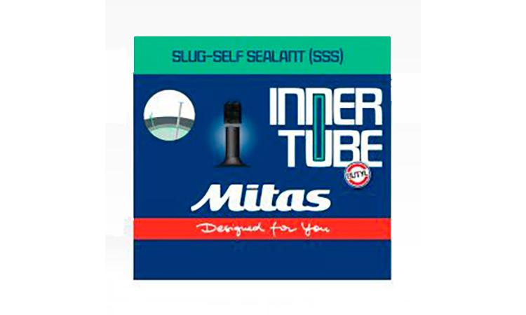 """Камера Mitas (RUBENA) 26"""" x 2.10-2.50"""" (54/62x559), AV 35 мм, Slug self sealant D08 SF, гель, в коробке"""