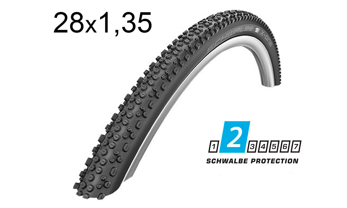Покрышка Schwalbe 28x1.35 (35-622) 700x35C X-ONE Allround Performance, Folding B/B-SK HS467 DC 67EPI EK