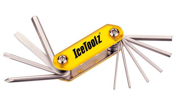 Ключ ICE TOOLZ Compact-10, складной 10 инструментов