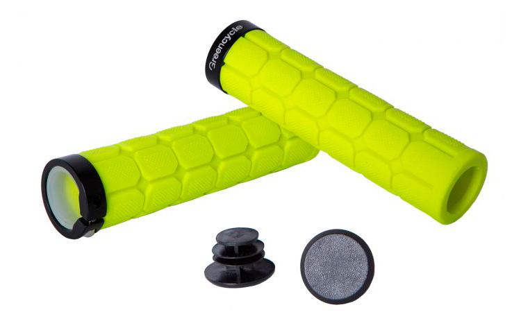 Грипсы Green Cycle GGR-419, длина 130 мм, вспененная резина, с одним замком