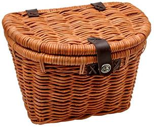 Плетеная корзинка на велосипед