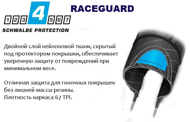Покрышка 28x1.35 (35-622) Schwalbe MARATHON RACER HS429 R-Guard B/B-SK+RT SpC, 67EPI